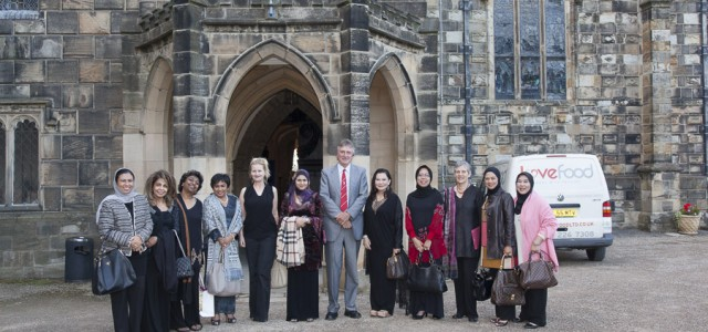 Dato Hafsah Hashim CEO, SMECorp and Professor Allan Gibb OBE with the delegation,Auckland Castle
