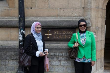 Sharifah Najwa Syed Abu Bakar,Director, SMECorp and Dato Hazimah Zainuddin, MD Hyrax Oil Sdn Bhd,St Cross College,Oxford University