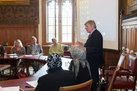 The Earl of Erroll opens the symposium 'Economic Prosperity through Enterprise Education' Palace of Westminster