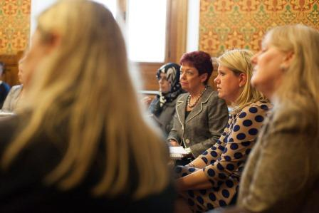 Dr. Mahboubeh Sadeghinia,Director,Centre for Strategic and Global Studies,  Jill Pay, Rebecca Howard, CEO of Cynergy Helene Martin -Gee,Chief Adviser to the All Party Parliamentary Group on Entrepreneurship at Pink Shoe Club Discussion House of Lords