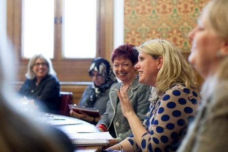 Dinah Bennett OBE,Mahboubeh Sadeghinia,Director,Centre for Strategic and Global Studies,  Jill Pay, RebeccaHoward, MD of Cynergy,Pink Shoe Club Discussion House of Lords
