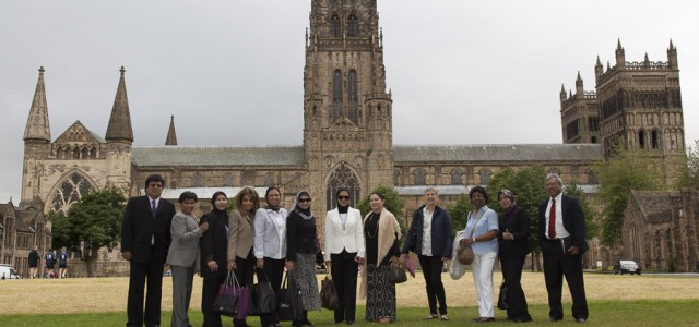 The Delegation on Palace Green, Durham,UK
