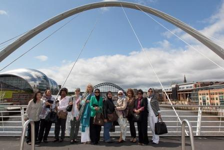 The Malaysian Delegates enjoying the views of Newcastle and Gateshead