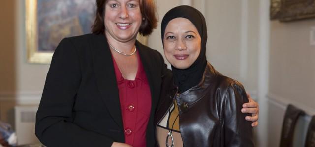 Ruth Winden, MD Careers Enhanced and Dato Hazimah Zainuddin MD Hyrax Oil Sdn Bhd,Auckland Castle