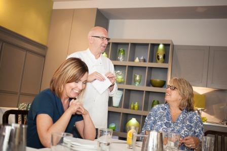 Jane Hogan, CEO TasteClub, Terry Laybourne,Award winning Chef,and Dinah Bennett, Cafe 21, Newcastle