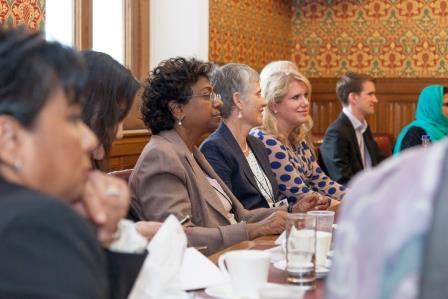 VIMALA SUNDRAM Managing Director, Capital Corporate Communications seated with AYESHA HARBEN Managing Director, Ayesha Harben & Associates and Rebecca Howard